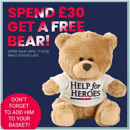 Get a free bear with your order